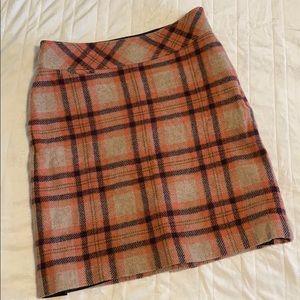 LL Bean Wool Blend Checkered Skirt - Size 6P